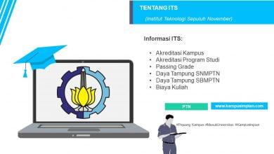Photo of Passing Grade Terbaru ITS 2020/2021 (Institut Teknologi Sepuluh Nopember)