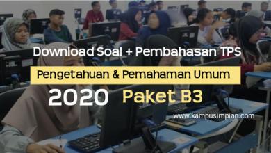 Photo of [PDF] Download Soal + Pembahasan TPS Pengetahuan & Pemahaman Umum  B3 2020/2021