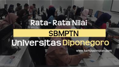 Rata-Rata Nilai UTBK Universitas Diponegoro 2020/2021