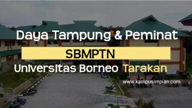 Daya Tampung dan Peminat SBMPTN Universitas Borneo Tarakan 2020/2021