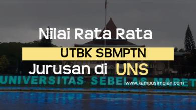Rata-Rata Nilai UTBK SBMPTN UNS
