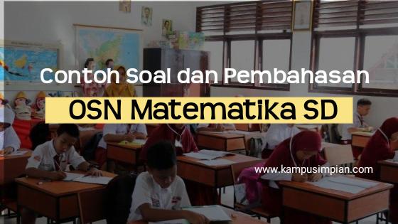 Soal OSN Matematika SD