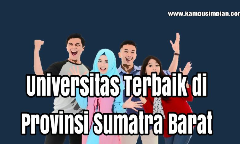 PTN dan PTS terbaik di Sumatra Barat