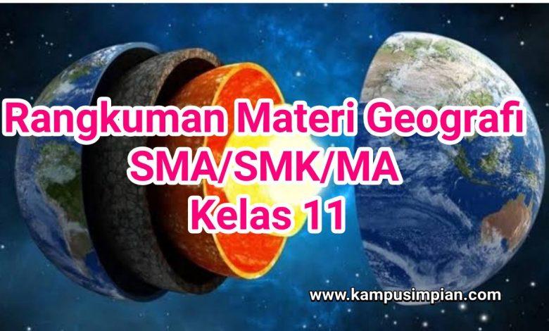 Download Rangkuman Materi Geografi Kelas 11