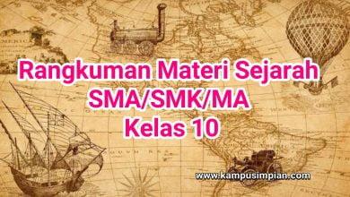 Photo of Rangkuman Materi Sejarah Lengkap  Kelas 10 SMA/SMK/MA