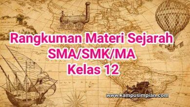 Photo of Rangkuman Materi Sejarah Lengkap  Kelas 12 SMA/SMK/MA