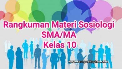 Photo of Rangkuman Materi Sosiologi Lengkap  Kelas 10 SMA/MA