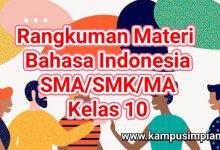 Photo of Rangkuman Lengkap Materi Bahasa Indonesia SMA/SMK/MA Kelas 10